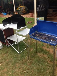Camp stove and camp stove stand with storage Erskine Park Penrith Area Preview