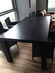 Freedom dining table, black wood Chatswood Willoughby Area Preview