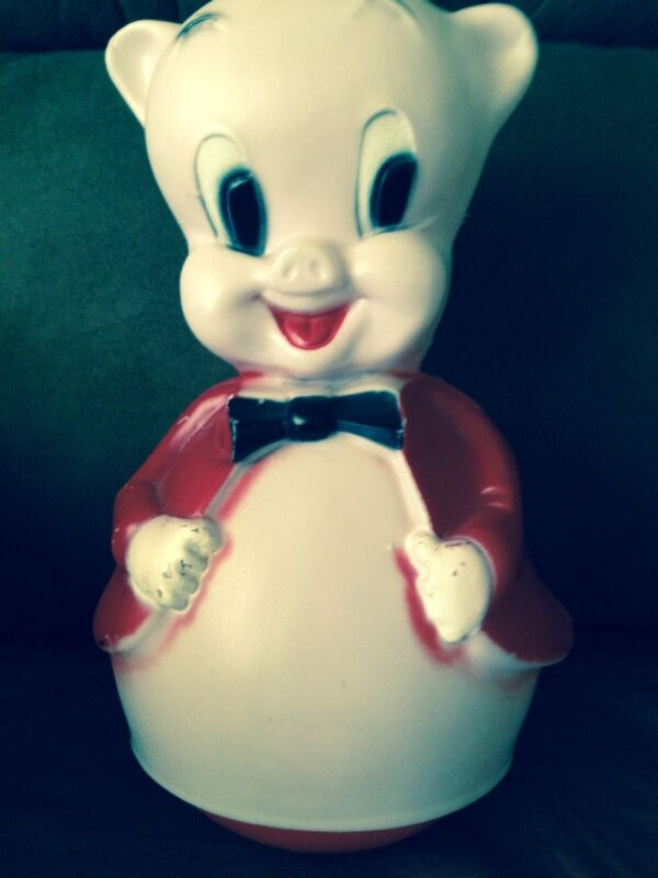 Vintage Porky Pig Roly Poly Musical Toy