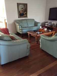 3 piece leather lounge Miranda Sutherland Area Preview