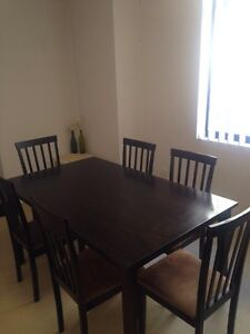 Dining table and 6x chairs Meadowbank Ryde Area Preview