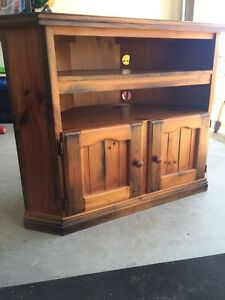 Solid wooden corner Tv unit Ripley Ipswich City Preview