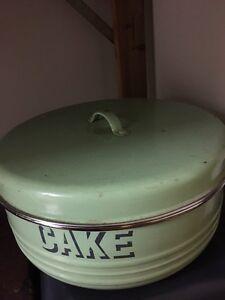 Vintage turquoise bread tin Thornbury Darebin Area Preview