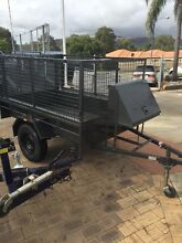 7 x 4 Trailer with Ramp, Cage , Spare Tyre & Rego Gosnells Gosnells Area Preview