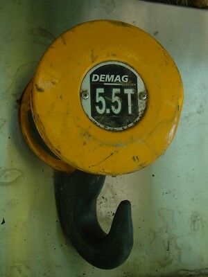 Demag 5.5 Ton Twin Sheave Cable Pulley Block Crane Hook
