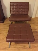 Leather chairs and footstool Penshurst Hurstville Area Preview