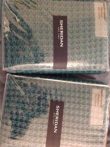 Sheridan European Pillow Cases Knitted x2 teal colour Albury Albury Area Preview