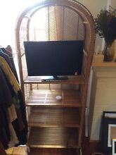 Wicker TV unit with shelves Carlton North Melbourne City Preview