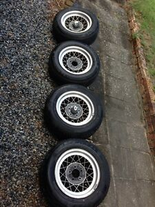 Ford Hotwire mags rare 15 inch with new tyres Woodridge Logan Area Preview