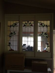 3 X vintage lead light panels Whittlesea Whittlesea Area Preview