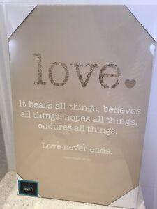 Corinthians 'love' quote canvas Nollamara Stirling Area Preview