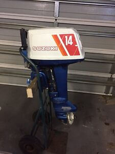 Suzuki outboard auxiliary motor 14hp Riverside West Tamar Preview