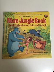 "Rare - 1969 Disney ""More Jungle Book"" Vinyl and Story Willetton Canning Area Preview"