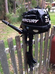 Mercury 3.5 hp outboard engine 4 stroke four stroke motor Killcare Gosford Area Preview