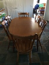 Wooden dining room table and chairs Kings Park Brimbank Area Preview