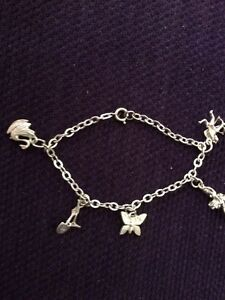 Sterling Silver charm bracelet with 5 charms Charlestown Lake Macquarie Area Preview