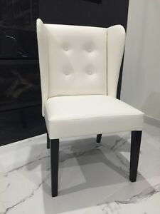 NEW 2 dining or occasional chairs white leather Panania Bankstown Area Preview