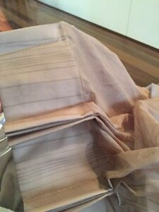 2 X brown sheer curtains - 2.30m drop Alexander Heights Wanneroo Area Preview