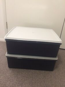 Tupperware large storage boxes crate Mudgeeraba Gold Coast South Preview