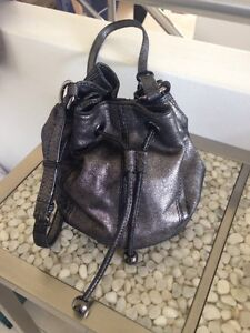 Mimco black/sliver leather pouch bag Cronulla Sutherland Area Preview