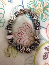 Pandora bracelet and charms (authentic) (silver bracelet) Greenslopes Brisbane South West Preview