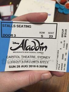 Aladdin tickets Kensington Eastern Suburbs Preview