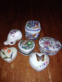 Lot of 6 Vintage Japanese Porcelain Trinket Box with Lids Wattle Grove Liverpool Area Preview