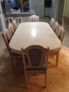 8-12 seat dinning table with 12 chairs & matching buffet Abbotsbury Fairfield Area Preview