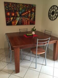 Solid square dining table Kellyville The Hills District Preview