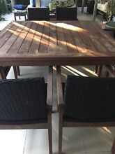 HIGH QUALITY STYLISH SOLID TIMBER DINING SETTING Bulimba Brisbane South East Preview