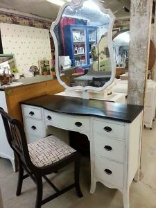 Vanity with Mirror and matching chair