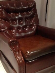 antique vintage leather recliner rocker Darch Wanneroo Area Preview