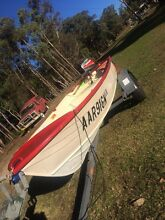 Savage Tinnie 8hp with trailer Maroota The Hills District Preview