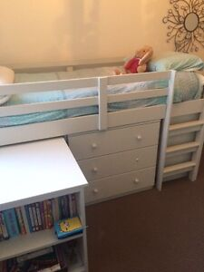 Single bed with desk, draws and bookshelves Hobart CBD Hobart City Preview