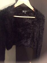 Black soft fuzzy cropped cardigan Dingley Village Kingston Area Preview