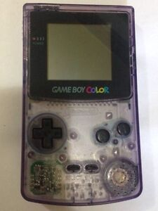 Gameboy Color Console CGB-001 Clear Purple Ashmont Wagga Wagga City Preview