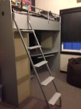 BED - Loft bed with wardrobe and desk underneath. Kearsley Cessnock Area Preview