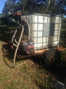 Water tank on trailor with fire fighting pump Nabiac Great Lakes Area Preview