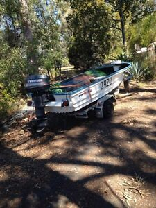 14 ft Quintrex open tinny 25hp evenrude Capalaba Brisbane South East Preview
