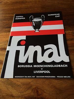 LIVERPOOL V BMG 1977 EUROPEAN CUP FINAL PROGRAMME MINT FREE POSTAGE LOOK