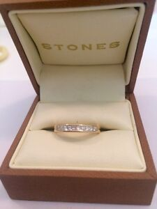 Gold Diamond Wedding Ring - princess cut Manly West Brisbane South East Preview