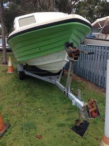 Mustang half cabin fibreglass 16ft runabout Marcoola Maroochydore Area Preview