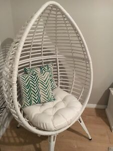 Brand New White Wicker Egg Chair RRP $599 Alkimos Wanneroo Area Preview