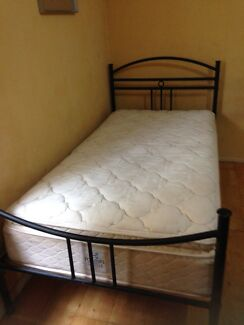 King single bed with quality sealy pillow top mattress