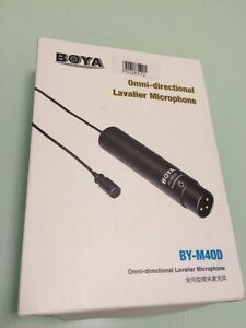 Boya BY-M40D Omni-Directional Lavalier Microphone XLR 2 Available Westleigh Hornsby Area Preview