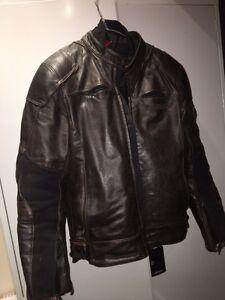 Dainese R Twin Leather Motorcycle Jacket M EU50 EC Diamond Creek Nillumbik Area Preview