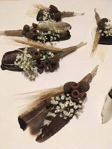 Nature inspired bridal buttonholes and hair piece Thornton Maitland Area Preview