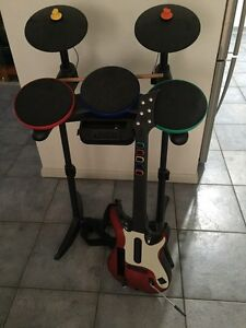 Wii Band set drums and guitar set Paralowie Salisbury Area Preview