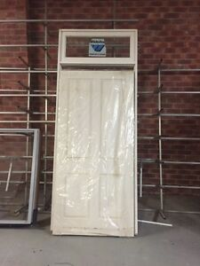 Solid timber door with fielded panels Broadmeadow Newcastle Area Preview