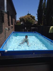 Bestway steel frame rectangular above ground pool with filter pump Clovelly Park Marion Area Preview